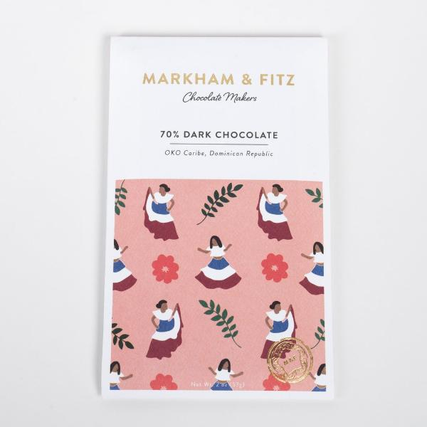 Markham & Fitz - 70% Dominican Republic Dark Chocolate