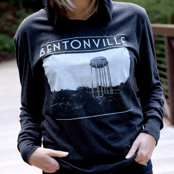 Bentonville Water Tower Hoodie (Photo by Scott C Wood Photography)