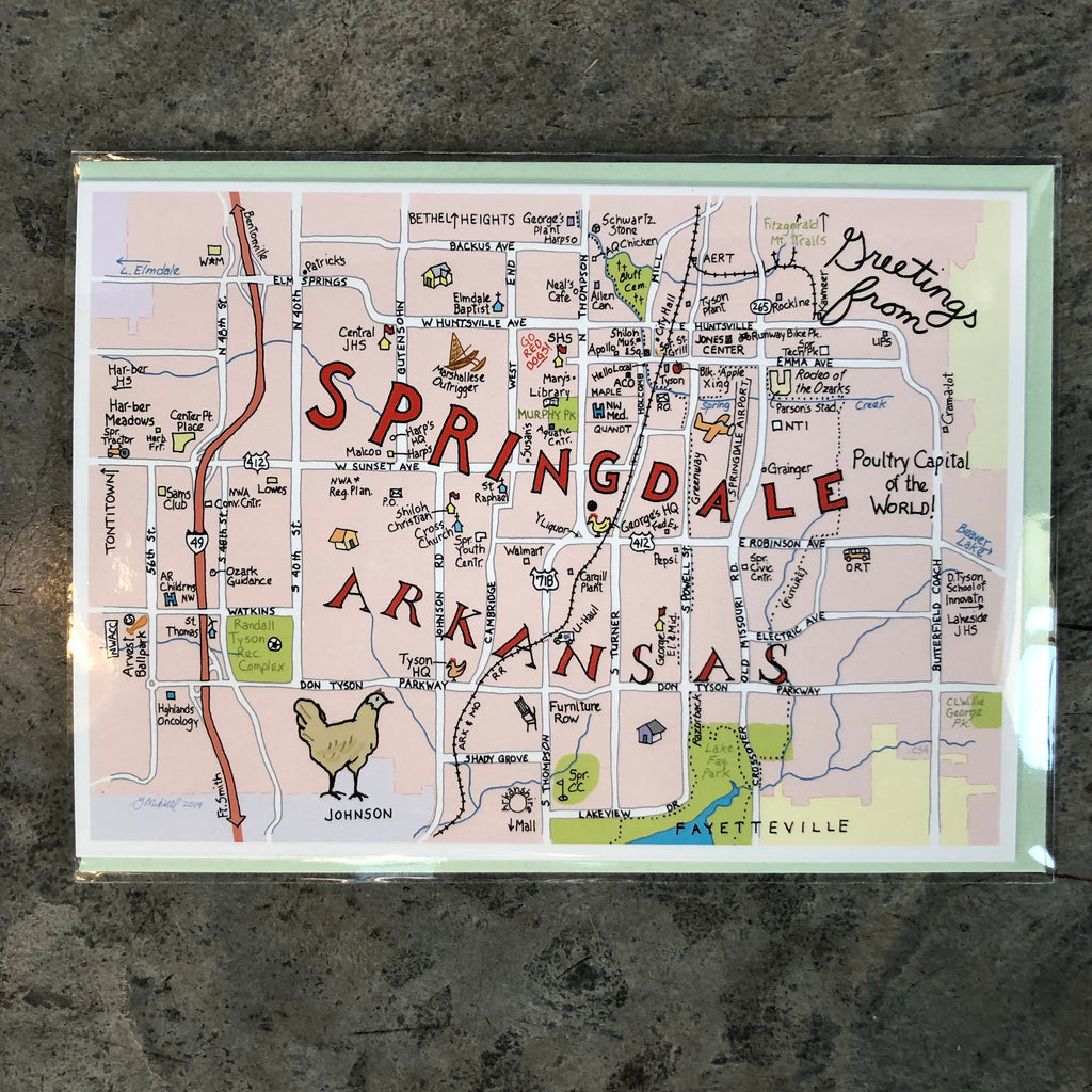 Springdale Color Greeting Card