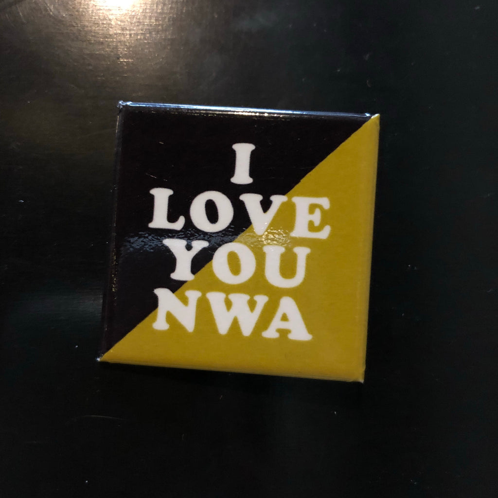 I Love NWA Pin