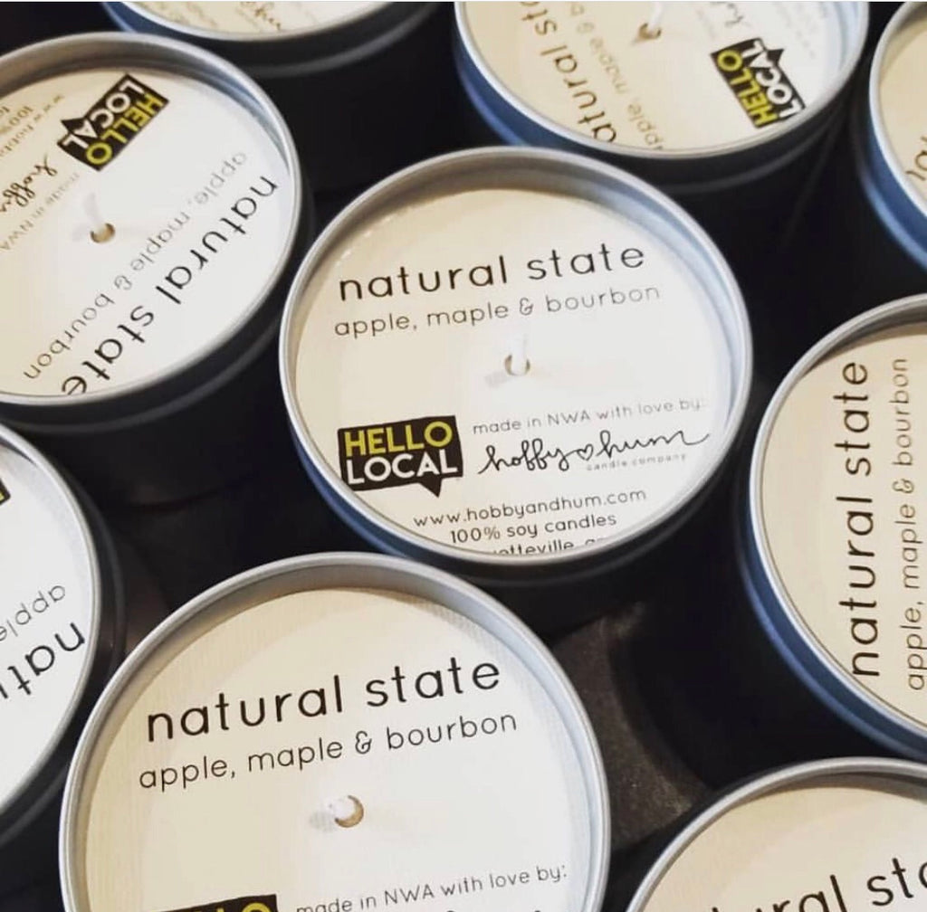 Natural State (Apple, Maple & Bourbon) Candle Tin