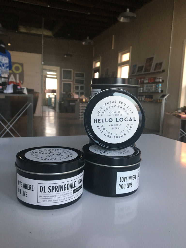 Hello Local Springdale Candle