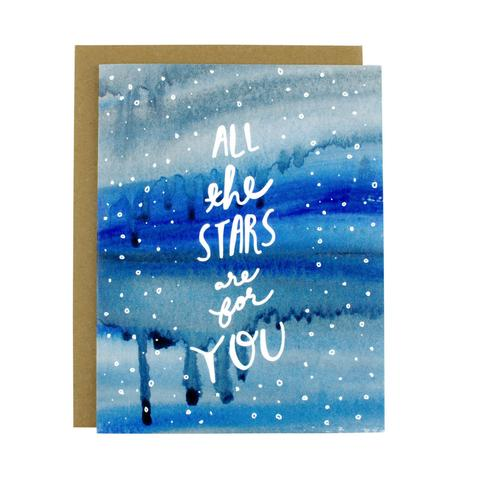 All The Stars Are For You Greeting Card