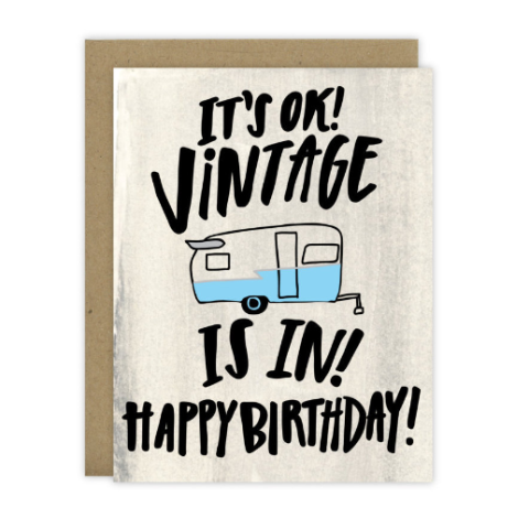 Vintage Is In Greeting Card