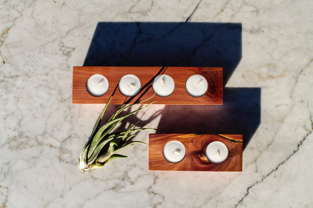 Cedar Votive Holder 4 Piece