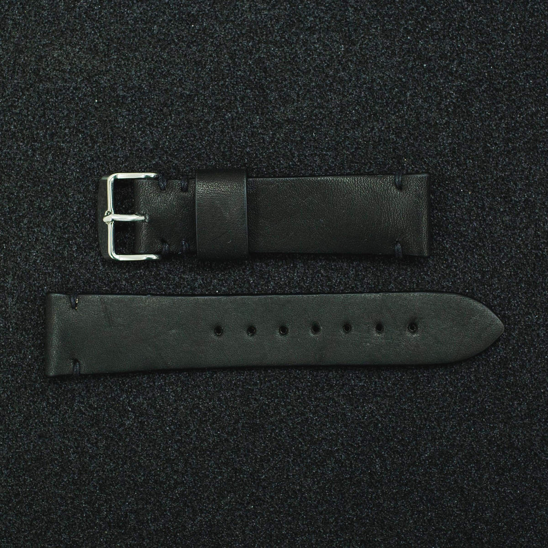 Black with Nickel Plated Buckle