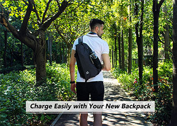 Charge Easily-New Waterfly Shoulder Backpack with USB Port