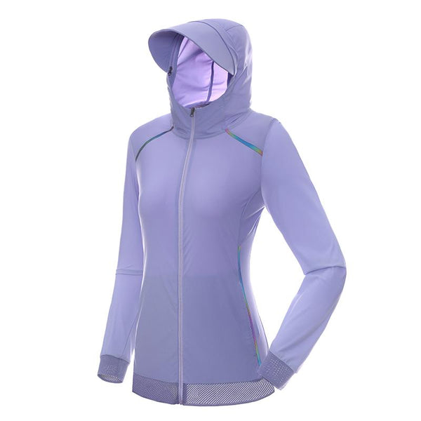 WATERFLY Women's Speed Run Jacket with Sun Protection