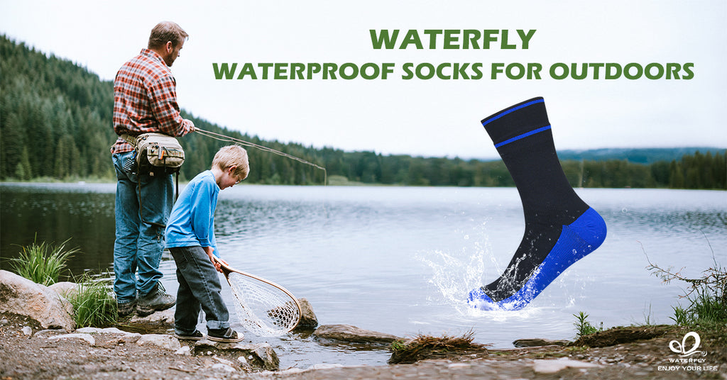 Waterfly Waterproof Socks, Really 100% WATERPROOF