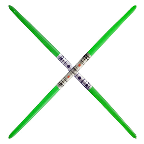 Double Blade Inflatable Sword - Green (2-pack)