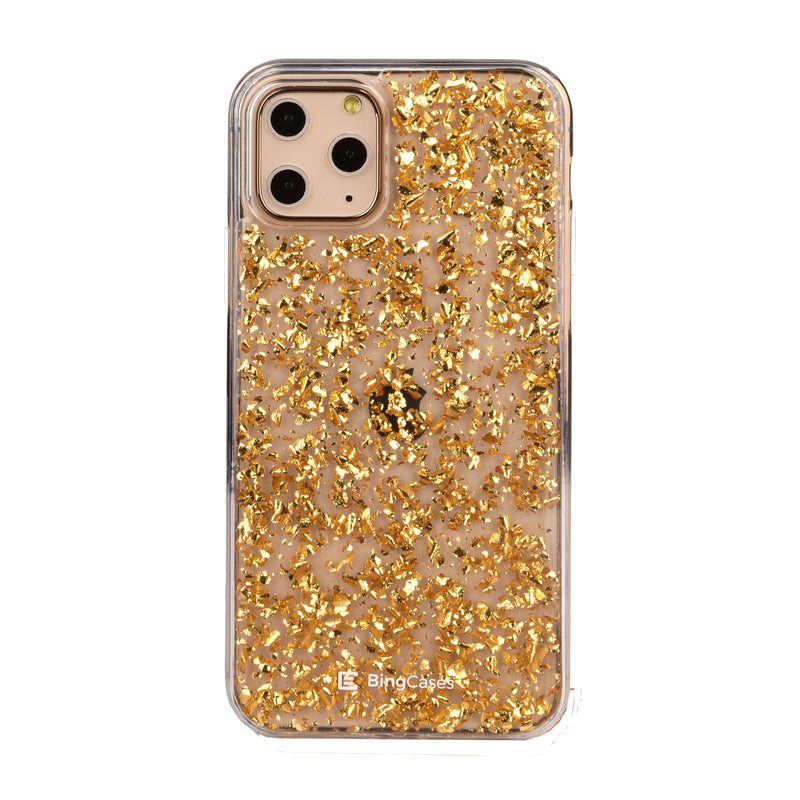 Karat Gold Flakes iPhone Case