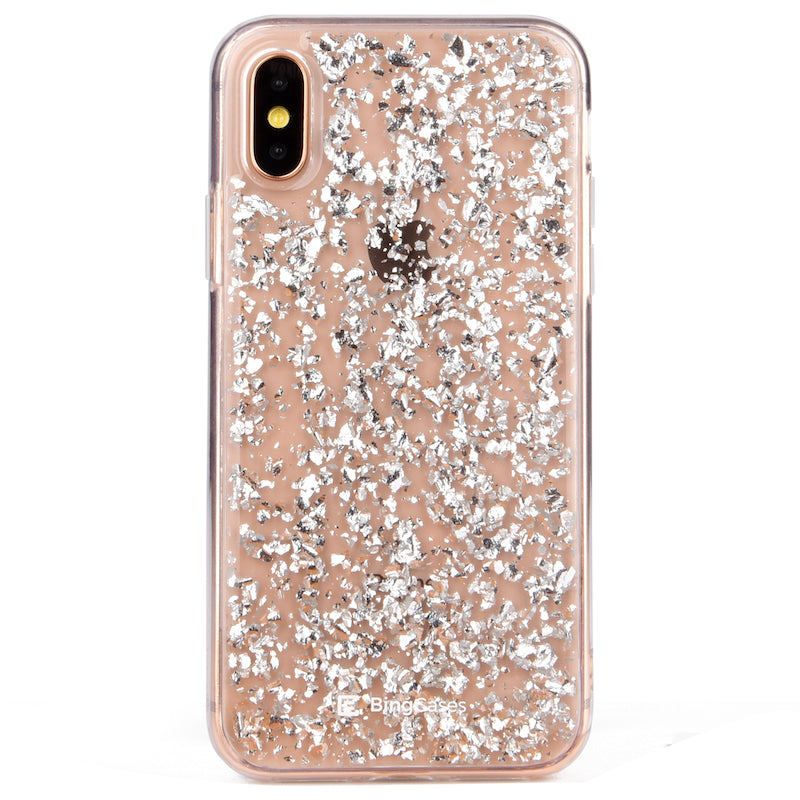 Karat Silver Flakes iPhone Case