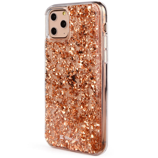 Rosegold Flakes iPhone Case