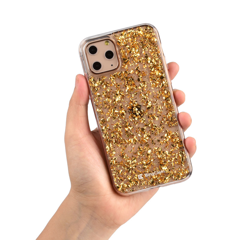 Gold Flakes iPhone Case