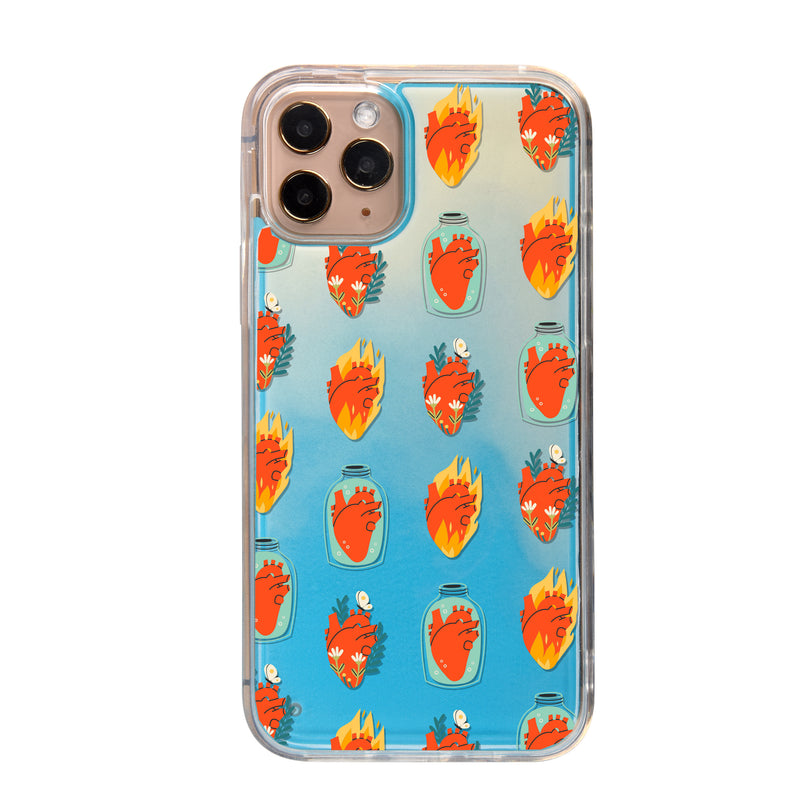 Parts of You - Hearts Neon Sand iPhone Case