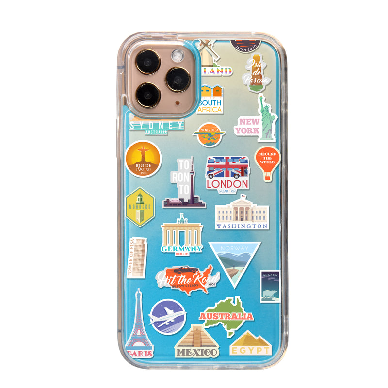 Holiday Travel Neon Sand iPhone Case