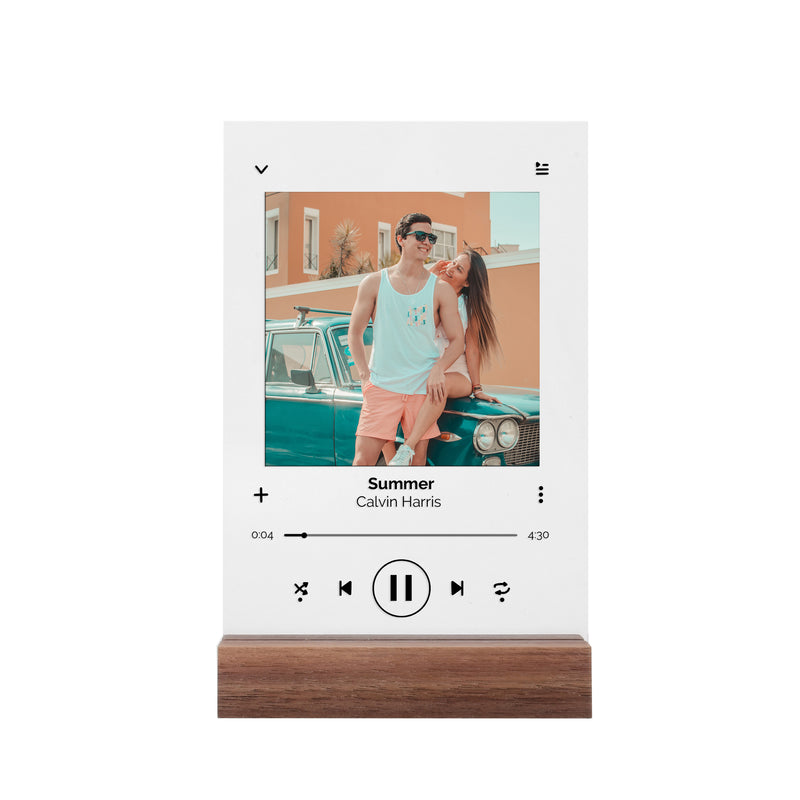 Custom Music Acrylic Plaque with Wood Stand 6*8 inch