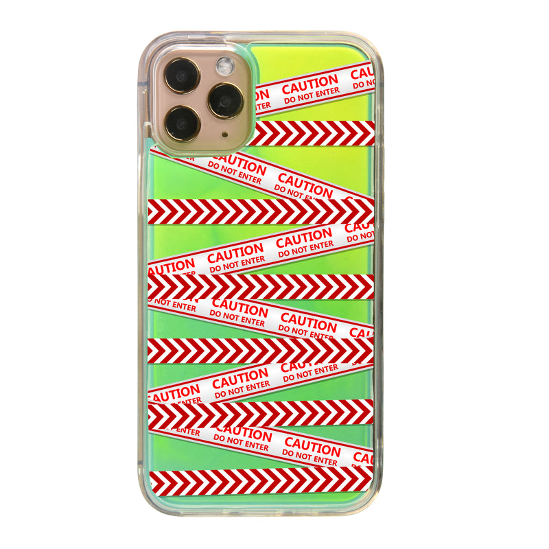 Caution Neon Sand iPhone Case