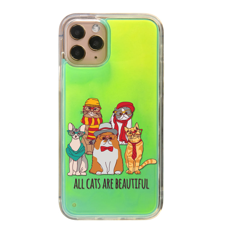 Cats Are Beautiful Neon Sand iPhone Case