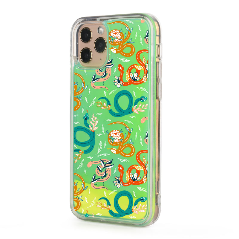 Colorful Snakes Neon Sand iPhone Case