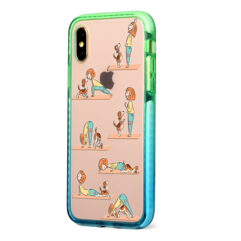 Dog Yoga Impact iPhone Case