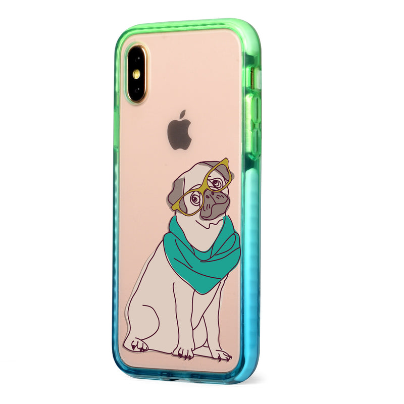 Hipster Pug Impact iPhone Case