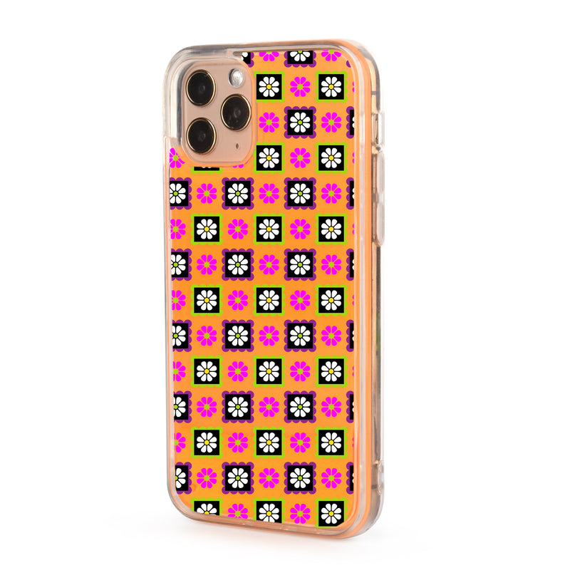 Indie Flower Neon Sand iPhone Case