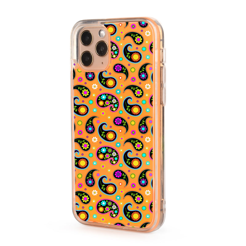 Colorful Paisley Neon Sand iPhone Case