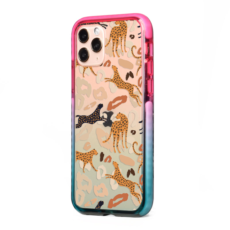 Abstract Leopard Impact iPhone Case