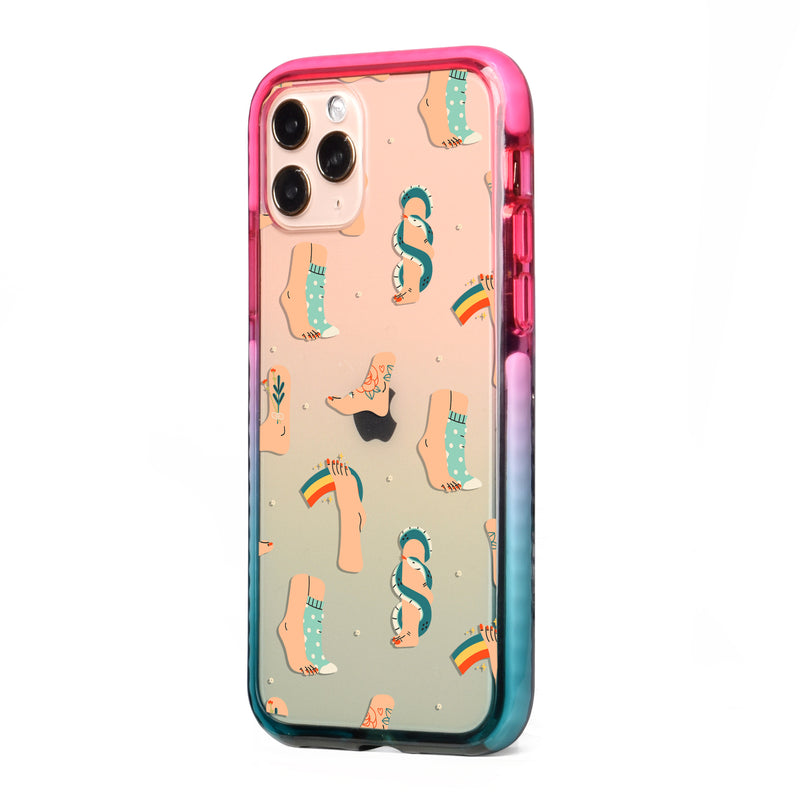 Womens Feets Impact iPhone Case