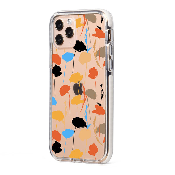 Abstract Fall Flowers Impact iPhone Case
