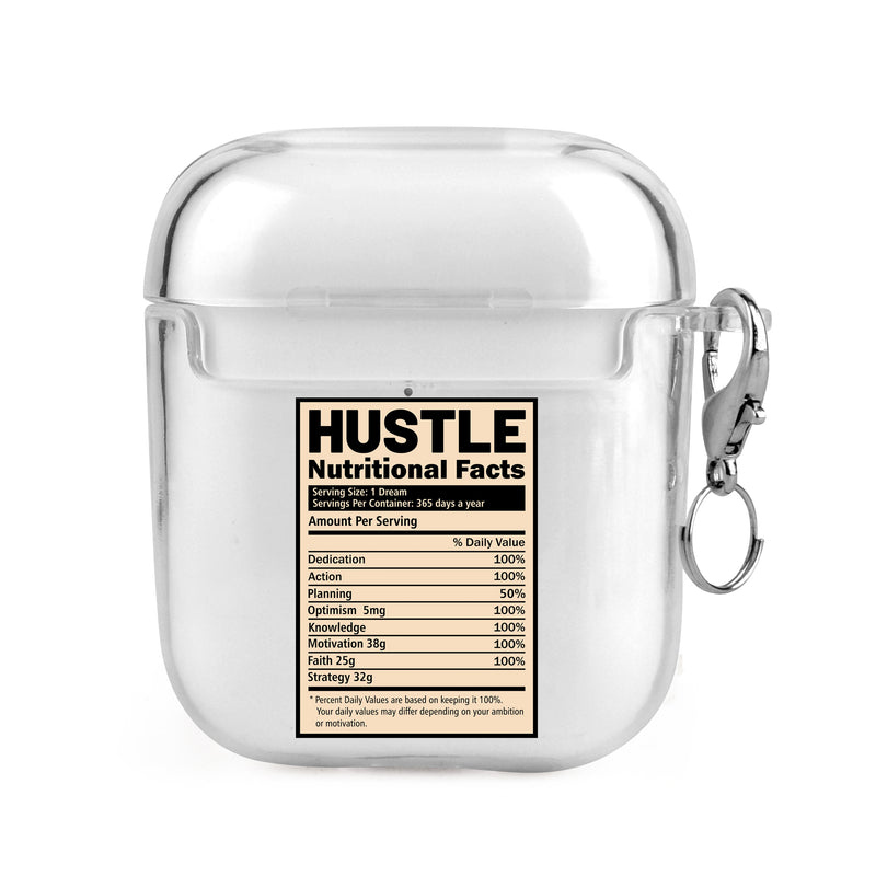 Hustle Nutritional Facts Airpods Case