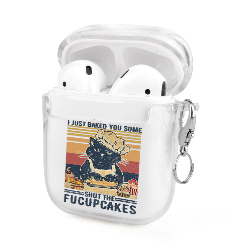 Funny Cat Baking Airpods Case