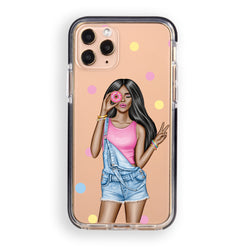 Donut Girl iPhone Case