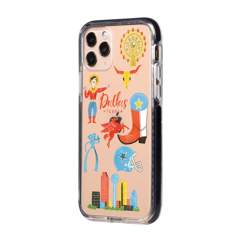 Dallas City Travel Collage iPhone Case