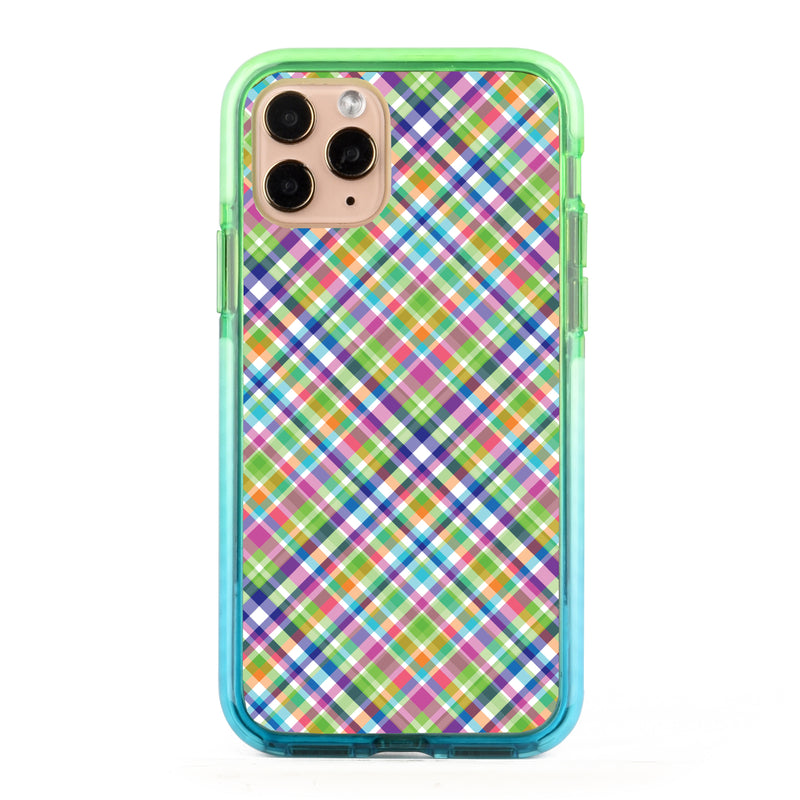Colorful Checkboard Impact iPhone Case