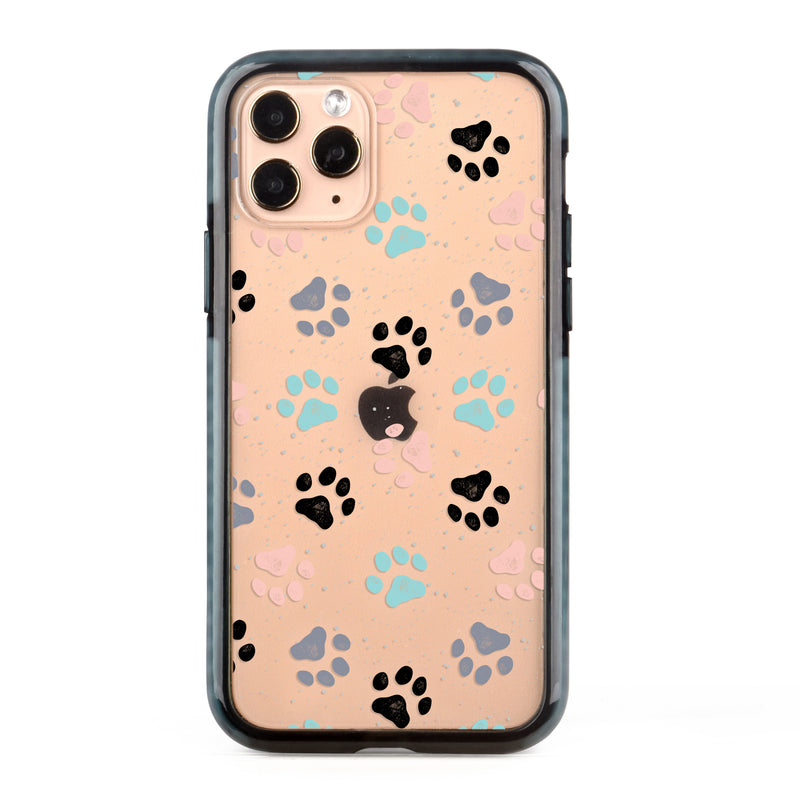 Colorful Paws Impact iPhone Case