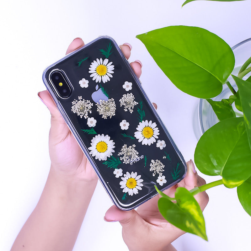 Daisy Pressed Flower iPhone Case