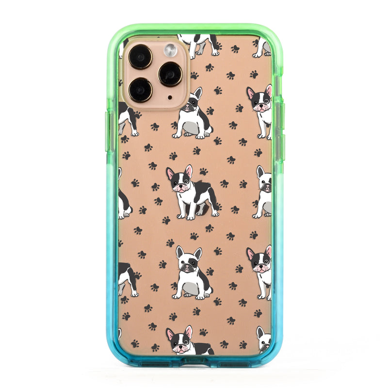 Frenchies Paws Collage Impact iPhone Case