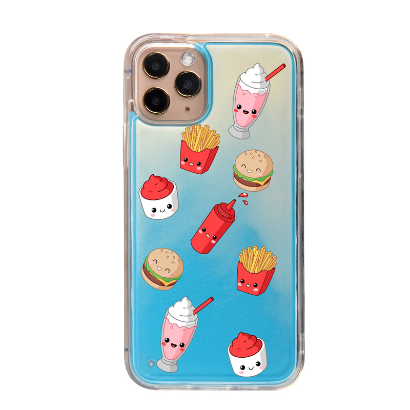 Burger Fries Shakes Neon Sand iPhone Case