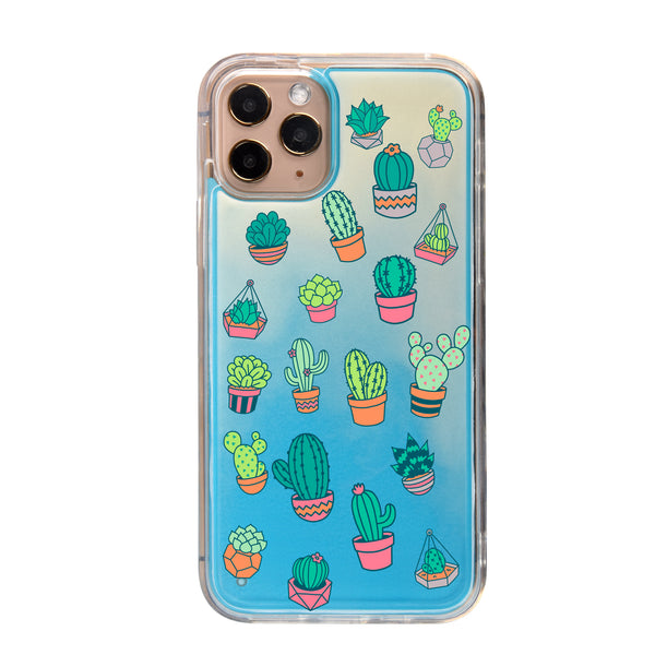 Colorful Cacti Neon Sand iPhone Case