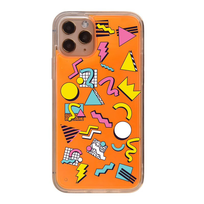 Retro Abstract Art Neon Sand iPhone Case