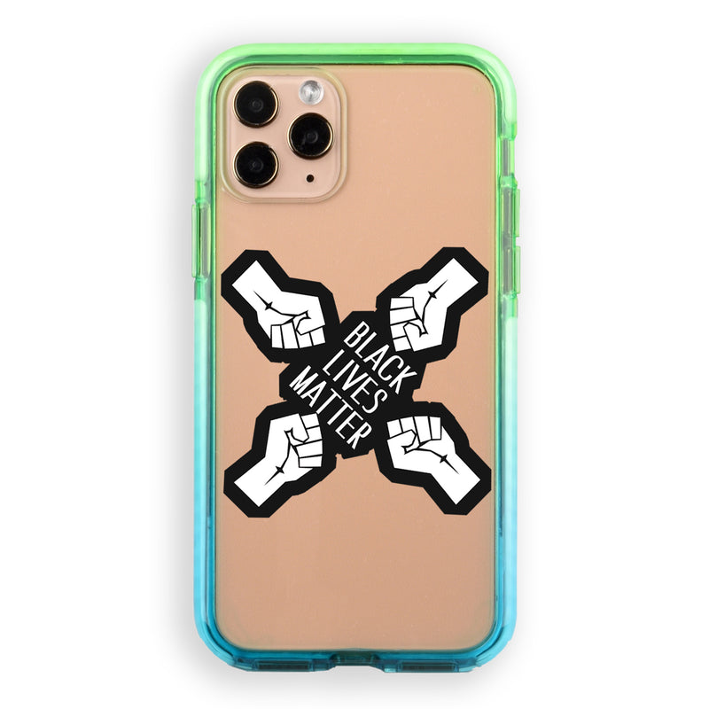 Black Lives Matter Fists Unite iPhone Case