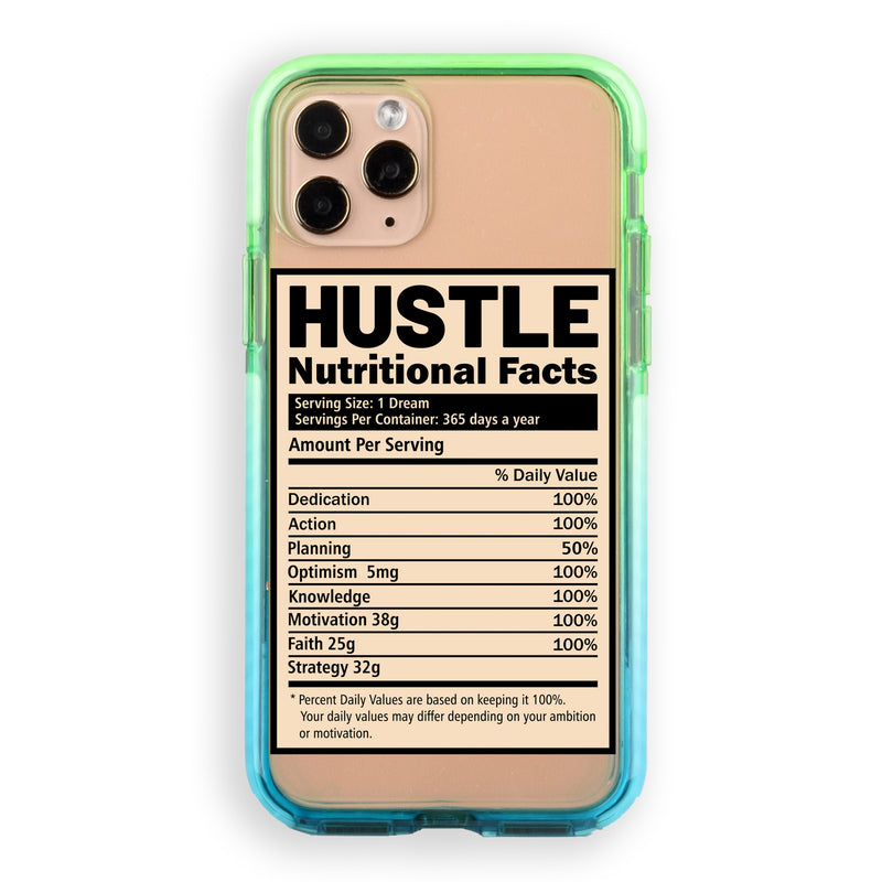 Hustle Nutritional  Facts iPhone Case