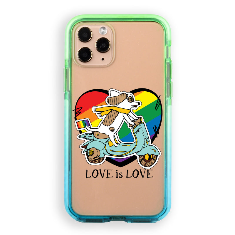 LGBTQ Dog Riding Moped iPhone Case