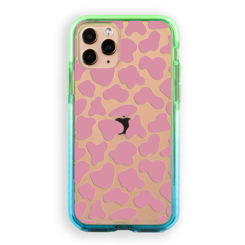 Pink Cow Print Pattern iPhone Case