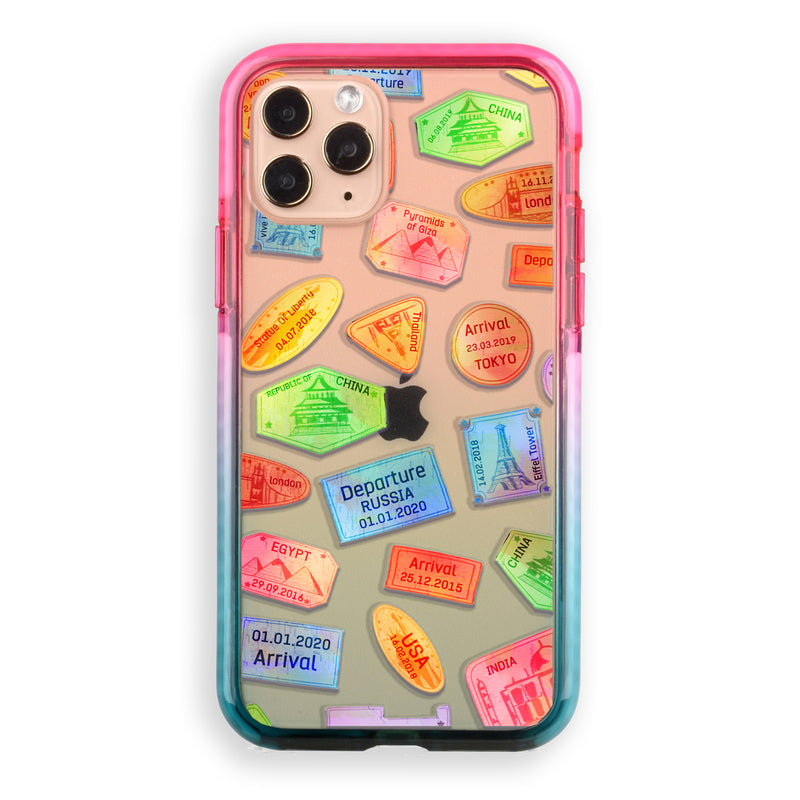 Travel Stamps iPhone Case