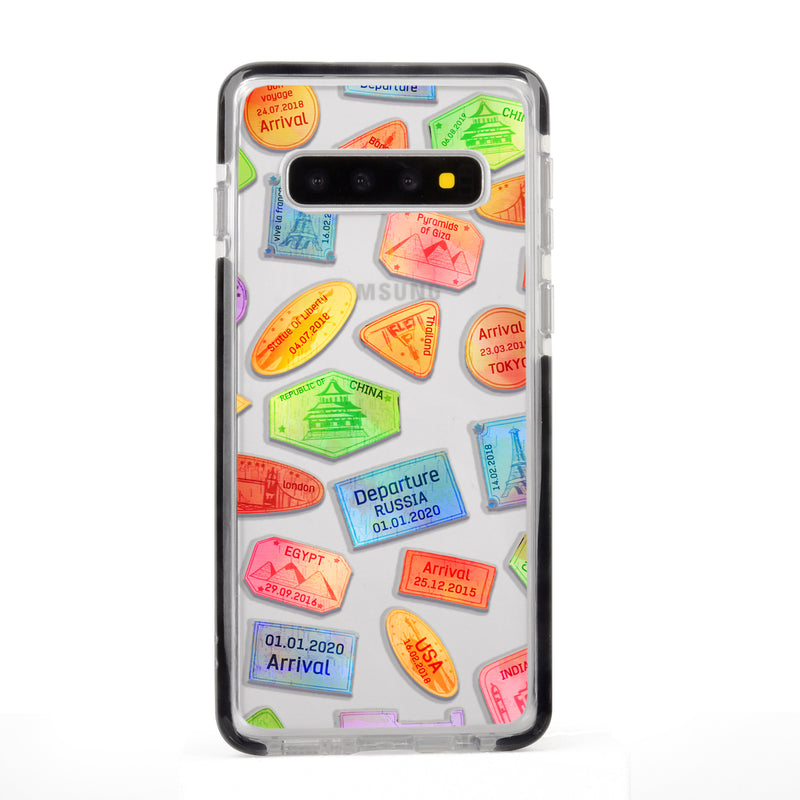 Travel Stamps Samsung Case