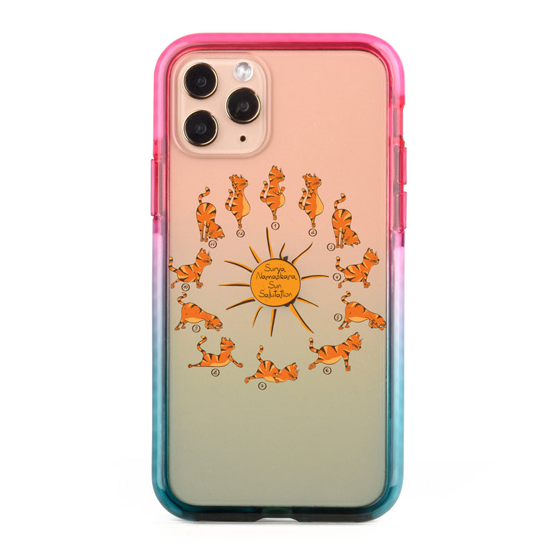 Sun Salutation Cat Impact iPhone Case