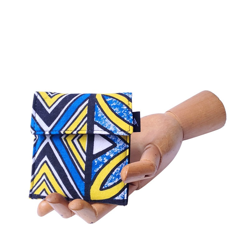 Vintage Geometric Print Velcro Mini Wallet by Anne Marie Beard. Handmade in Austin, Texas since 2004 y'all! annemarie mini wallet austin texas